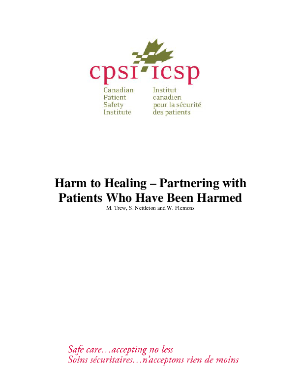 Harm to healing - partnership with patients (26)