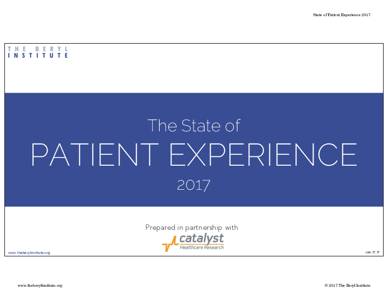 The state of patient experience - 2017 (10)