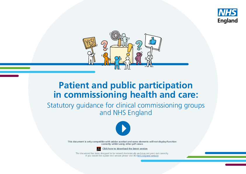 Patient and public involvement:  Breaking organisational boundaries (4)