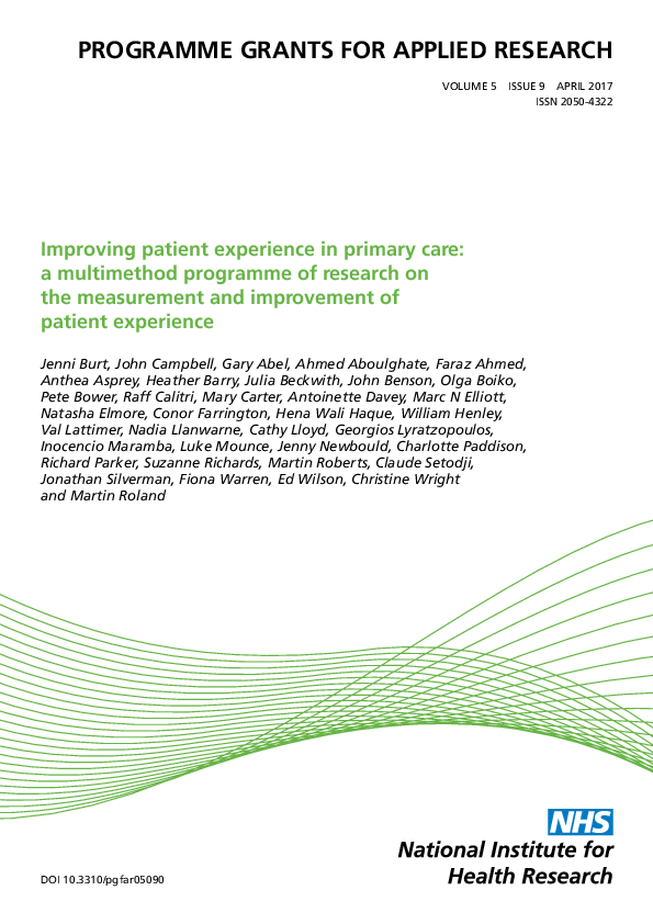 Improving patient experience in primary care (21)