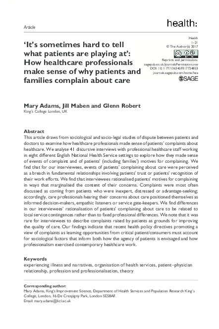 Patients, professionals, power and culture (24)