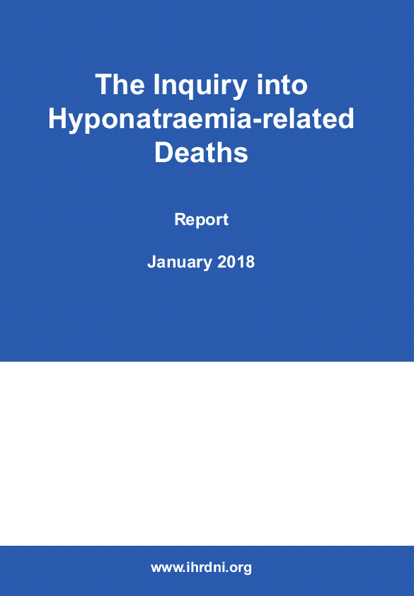 The Inquiry into Hyponatraemia-related Deaths (171239)