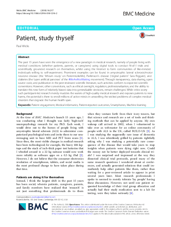 Patient, study thyself (91)