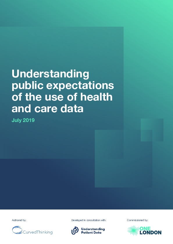 Understanding Patient Data - OneLondon - Curved Thinking (198376)